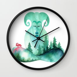 Mountain Zen Wall Clock