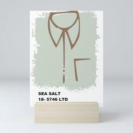 Sea salt color pantone Mini Art Print