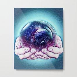 Space Bubble Metal Print