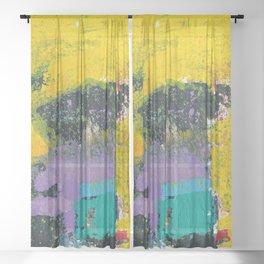 Whisper Yellow Abstract Sheer Curtain
