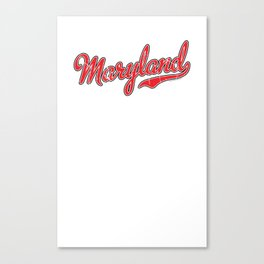 Maryland Red Script Canvas Print