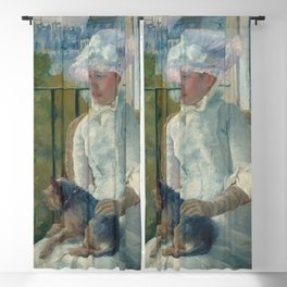 Young Girl at a Window Oil Painting by Mary Stevenson Cassatt Blackout Curtain