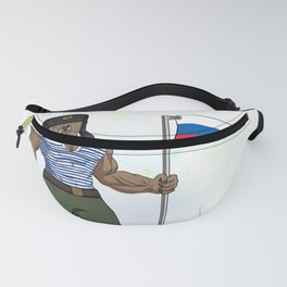 Russian Bear with the Russian Flag  Fanny Pack