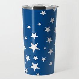 Simple Stars On Blue Art Travel Mug