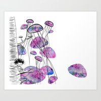 swim Art Prints featuring swim by serenita