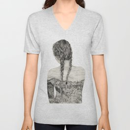 All That Is Left Is The Trace Of A Memory Unisex V-Neck