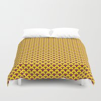 scales Duvet Covers featuring Scales by Hot Mustard