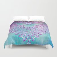 fairy tale Duvet Covers featuring Floral Fairy Tale by Octavia Soldani