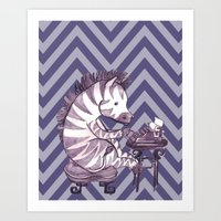 Typin' Stripes Art Print