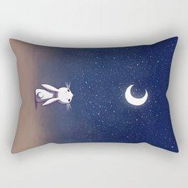 Moon Bunny Rectangular Pillow