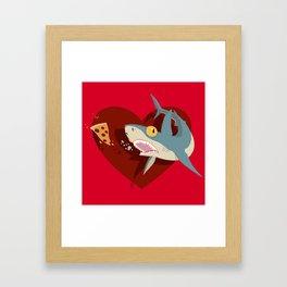 Pizza Shark Framed Art Print