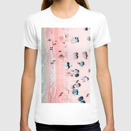 Ocean Print, Beach Print, Wall Decor, Aerial Beach Print, Beach Photography, Bondi Beach Print T-shirt