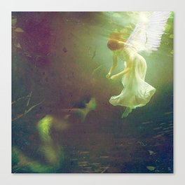 The angel and the mermaid Canvas Print
