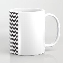 Black & White Chevron Coffee Mug