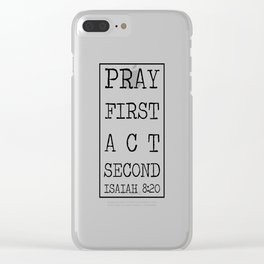 Christian quote Clear iPhone Case