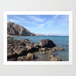 Oman Beach 2 Art Print