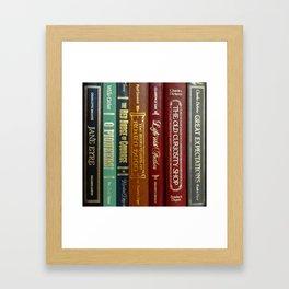 Books 3 Framed Art Print