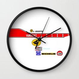 Johnny Cecotto 1979 Moto Grand Prix Wall Clock
