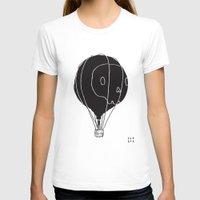 hot air balloon T-shirts featuring Hot Air Balloon Skull by Fupete Art
