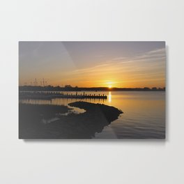 LIVING FOR THE SUNSET THO Metal Print