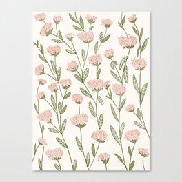 Rose Garden Pattern Canvas Print