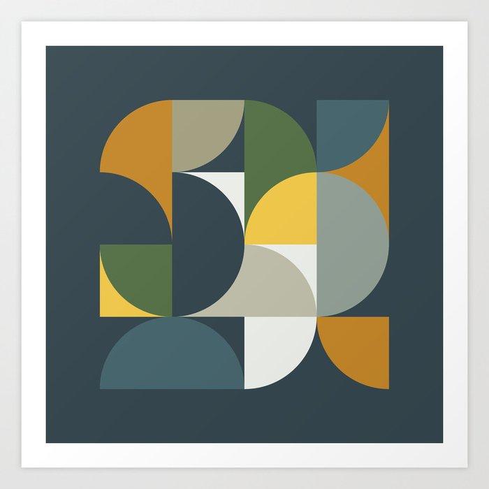 Mid Century Geometric 13/2 Kunstdrucke