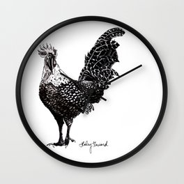 Rooster farmhouse decor Wall Clock
