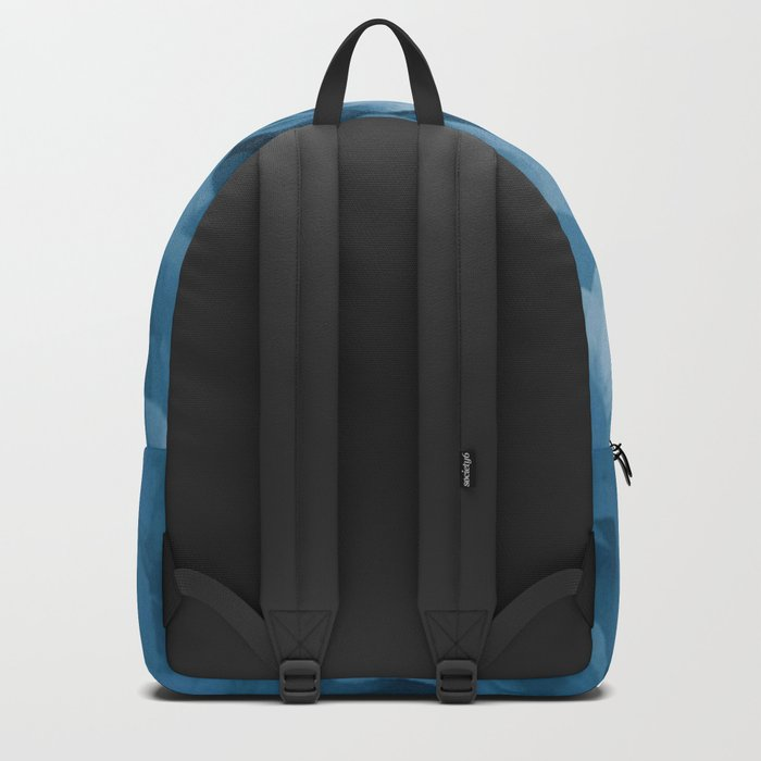Midnight Blue Petal Ruffle Abstract Backpack