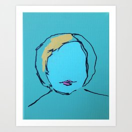 Self Portrait as a Blonde Art Print