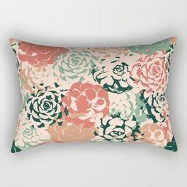 Stamped Succulents Rectangular Pillow