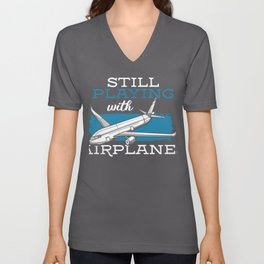 Still Playing with Airplanes Unisex V-Neck