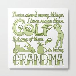 Golf Grandma Metal Print