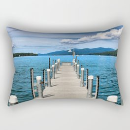 Stepping to the Sea Rectangular Pillow