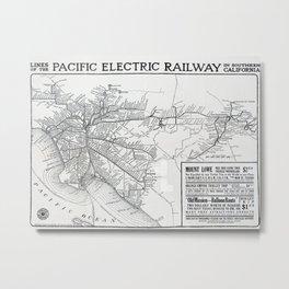 Pacific Electric Railway in Southern California Metal Print