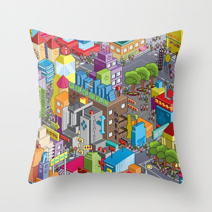 Find your robot Throw Pillow