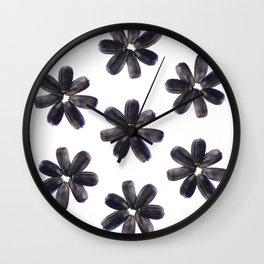 Sunflower Seeds Flower Pattern Wall Clock