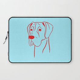 Great Dane (Cyan and Red) Laptop Sleeve