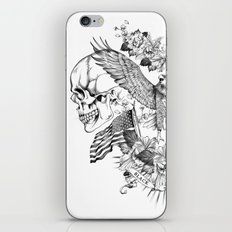 American Flower Skulls iPhone & iPod Skin