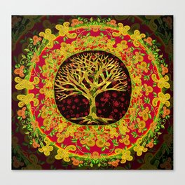 Autumn Leaves of Gold and Red Canvas Print