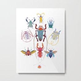 Stitches: Bugs Metal Print