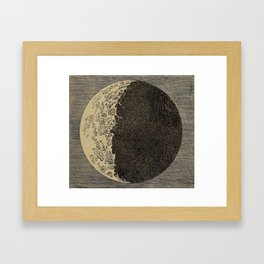 Five Day Moon Framed Art Print