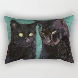 Two Black Cats Rectangular Pillow