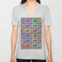 Time Lapse Motion Study Horse Color Unisex V-Neck