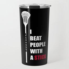 Lacrosse, Lax, Skull Player Coach Fan Shirt Gift Travel Mug