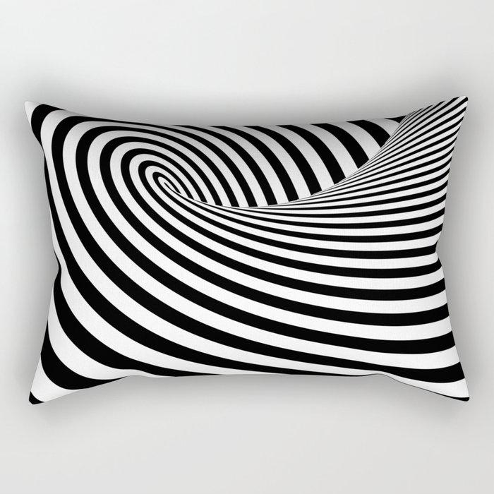 Dizzy lines - Optical game 16 Rectangular Pillow