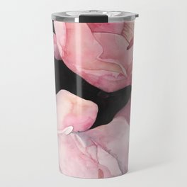 Peonies on Dark Background Travel Mug