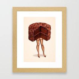 Cake Girl - Devil's Food Framed Art Print