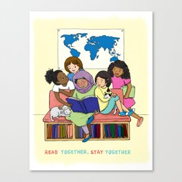 Read Together Stay Together Canvas Print