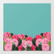 Floral & Turquoise Canvas Print