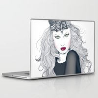 evil queen Laptop & iPad Skins featuring Evil Queen by Crecre